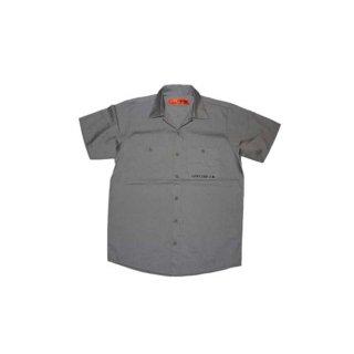 L0WCARD 半袖ワークシャツ 表記M チャコールグレー