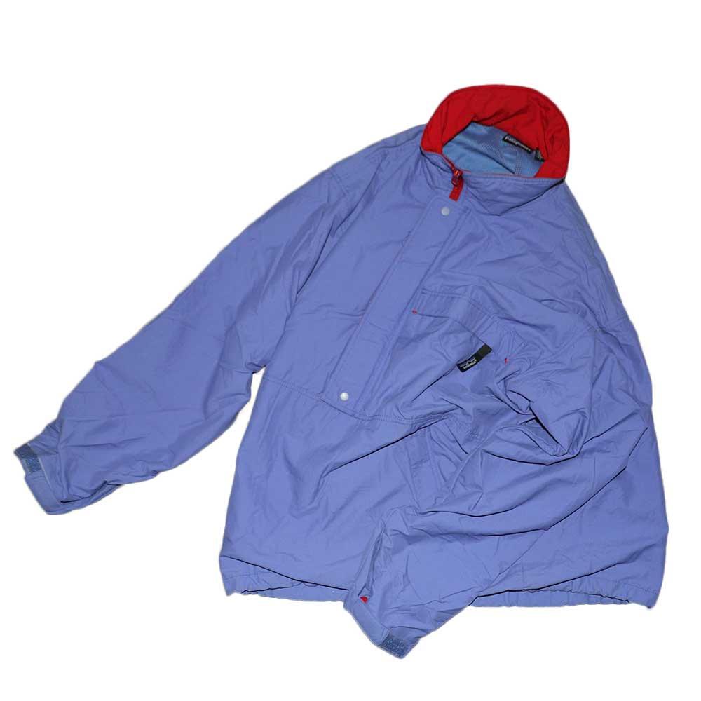 w-means(ダブルミーンズ) Patagonia 100%ナイロンプルオーバージャケット 表記M 薄紫×赤 詳細画像5