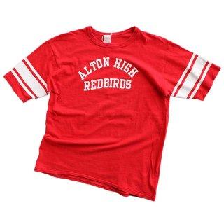 V&B cotton 半袖Tシャツ 表記xL 濃赤