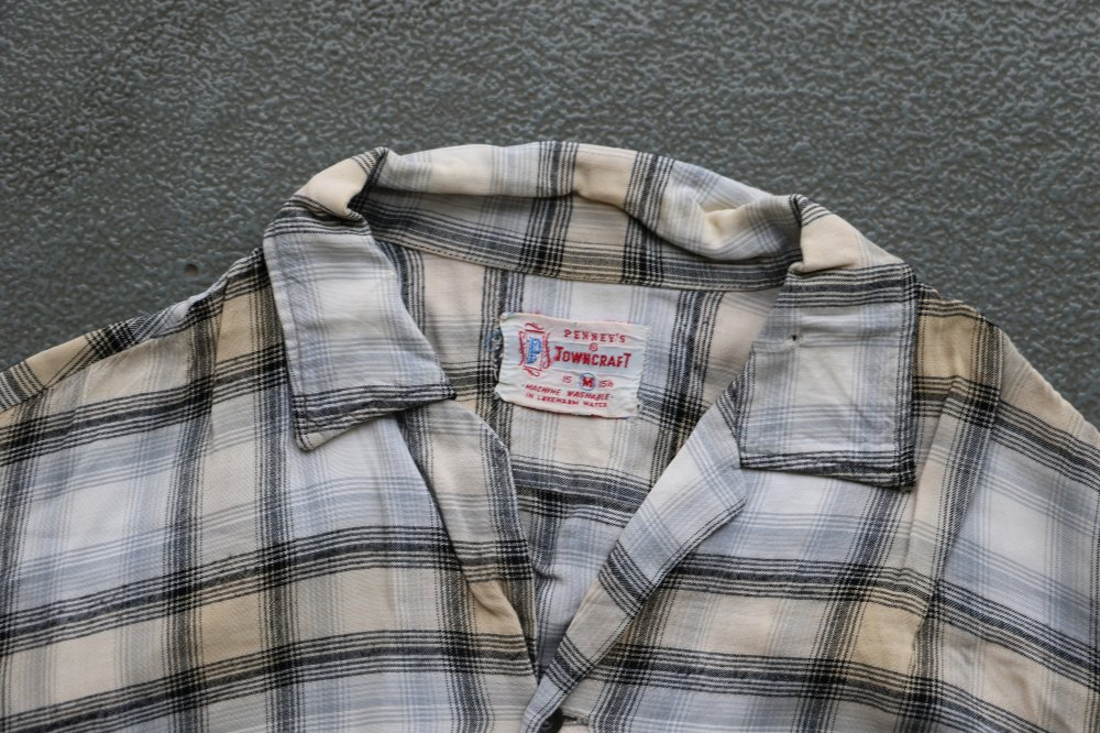 w-means(ダブルミーンズ) 60's PENNEY'S  TOWNCRAFT 長袖シャツ  表記M チェック柄 詳細画像1