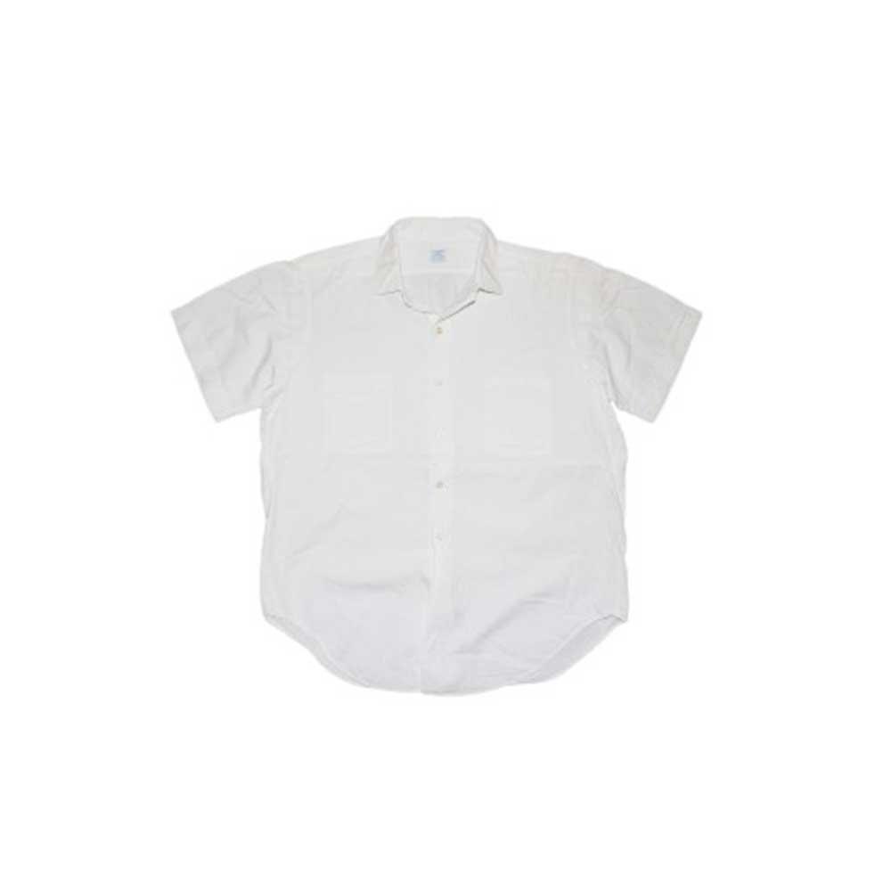 w-means(ダブルミーンズ) ARROW WHIP 100% cotton 半袖シャツ(アメリカ製)表記16 白 詳細画像