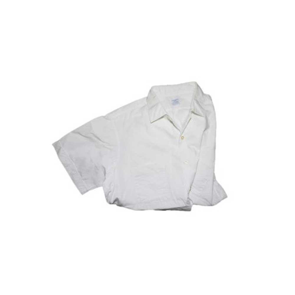 w-means(ダブルミーンズ) ARROW WHIP 100% cotton 半袖シャツ(アメリカ製)表記16 白 詳細画像1