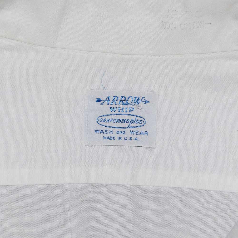 w-means(ダブルミーンズ) ARROW WHIP 100% cotton 半袖シャツ(アメリカ製)表記16 白 詳細画像2