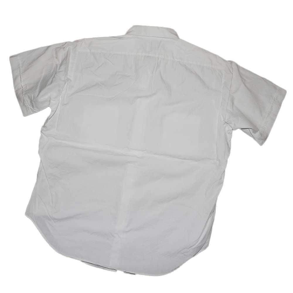 w-means(ダブルミーンズ) ARROW WHIP 100% cotton 半袖シャツ(アメリカ製)表記16 白 詳細画像4