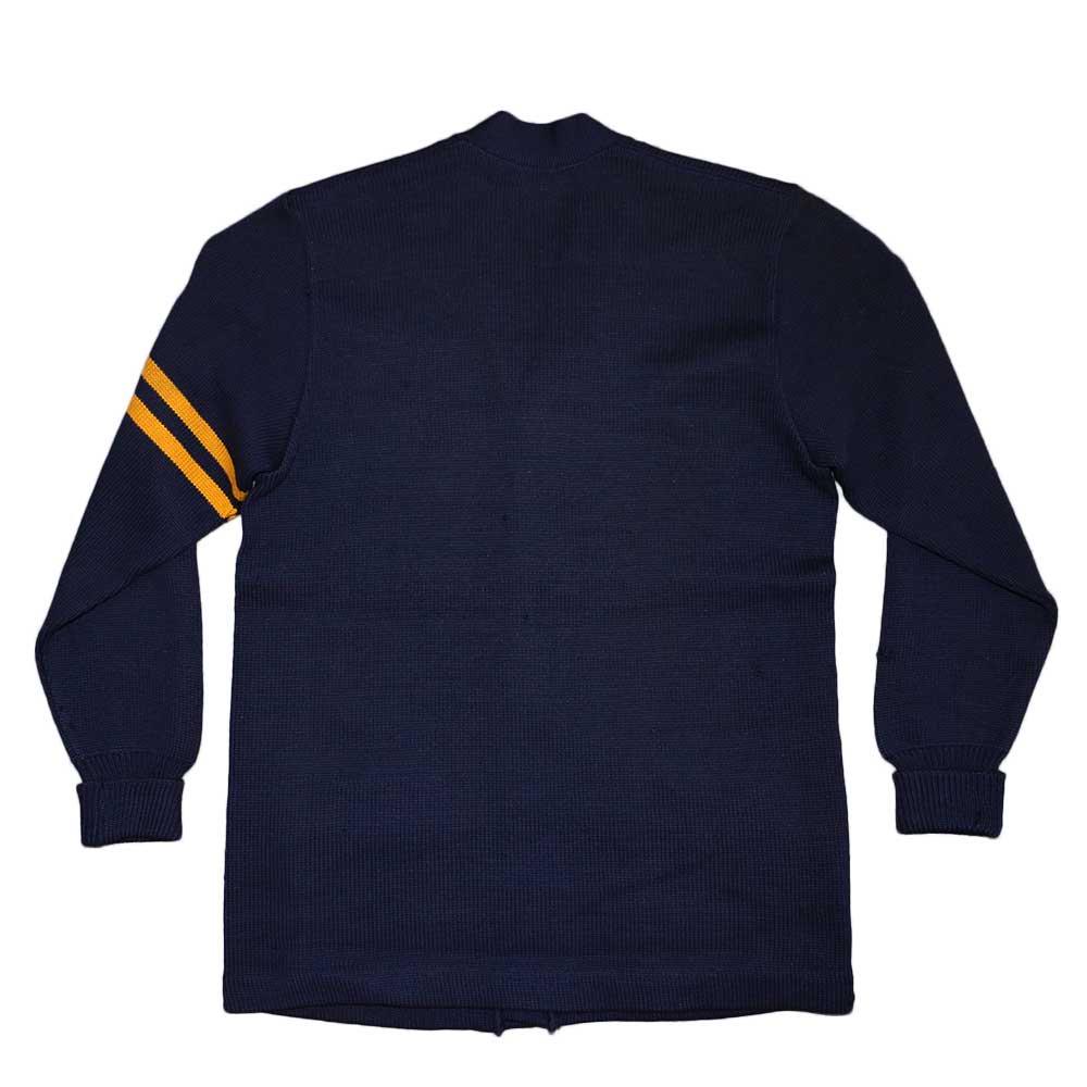 w-means(ダブルミーンズ) Letterman sweater 100%ウールレタードカーディガン 表記なし 濃紺 詳細画像5