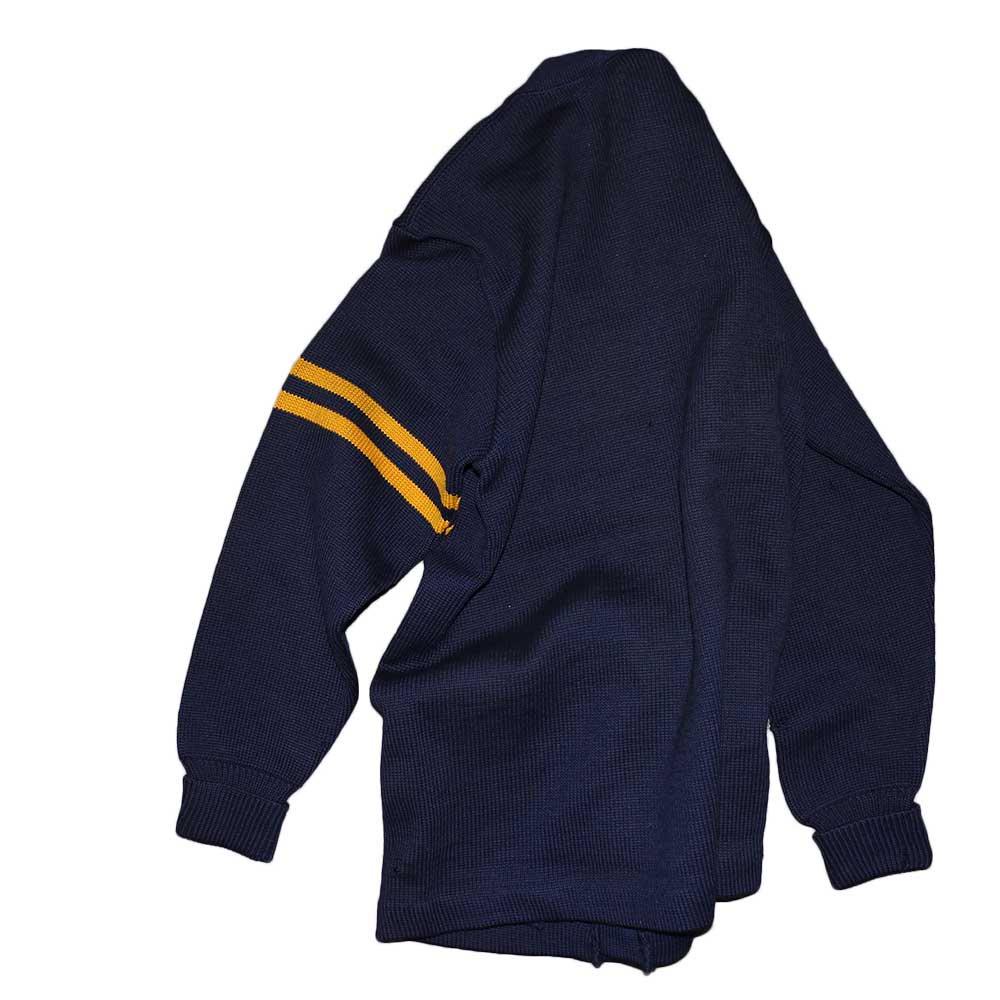 w-means(ダブルミーンズ) Letterman sweater 100%ウールレタードカーディガン 表記なし 濃紺 詳細画像6