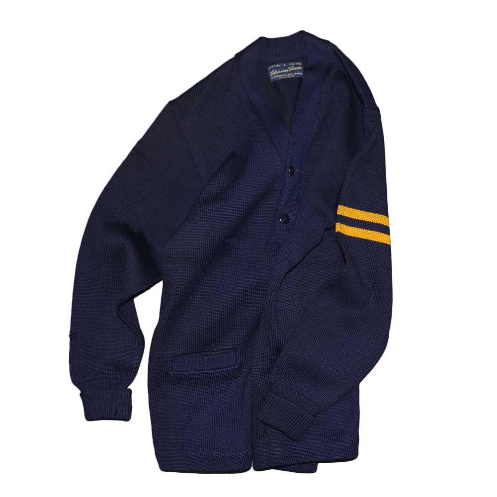 w-means(ダブルミーンズ) Letterman sweater 100%ウールレタードカーディガン 表記なし 濃紺 詳細画像7