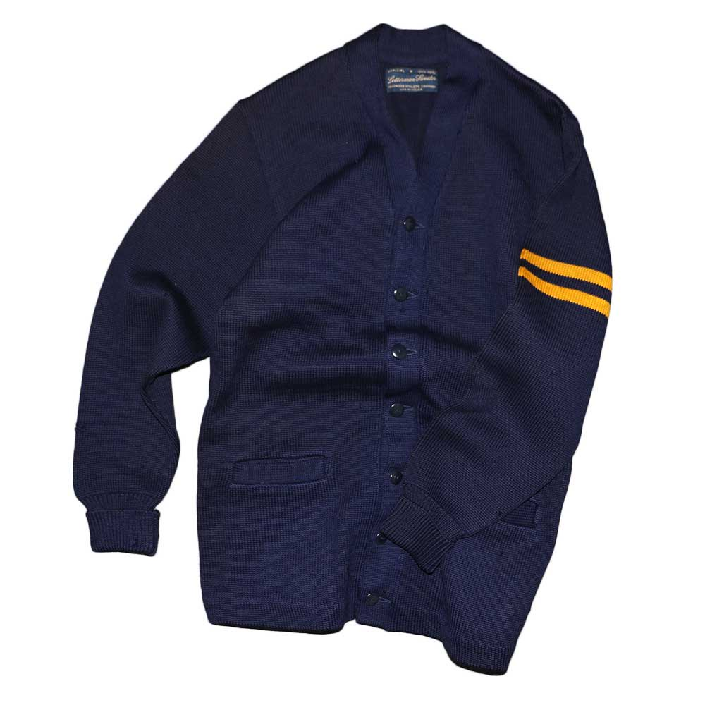 w-means(ダブルミーンズ) Letterman sweater 100%ウールレタードカーディガン 表記なし 濃紺 詳細画像8