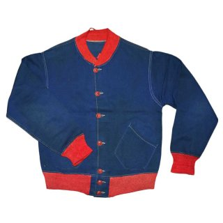 1945 W.A.C. コットンジャケット 表記なし 紺×赤