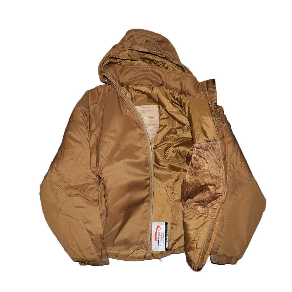 w-means(ダブルミーンズ) U.S.ARMY EXTREME COLD WEATHER GEN3 「APCU PARKA」Level 7 表記M-S コヨーテイエロー 詳細画像6