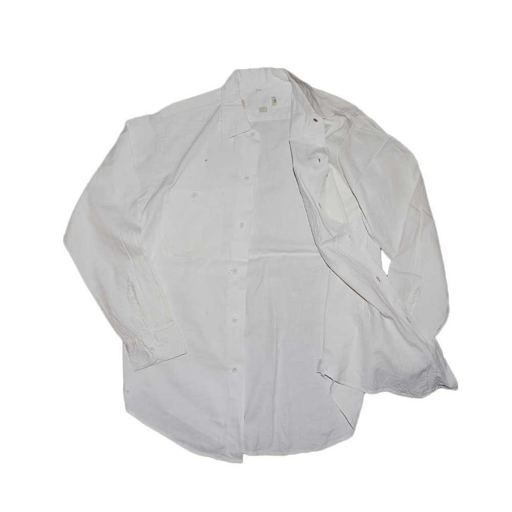 w-means(ダブルミーンズ) Lee コットンワークシャツ 表記なし White 詳細画像5