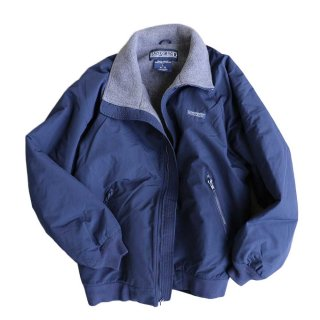 LAND'S END WARM-UP JACKET 表記L  NAVY×C.GRAY