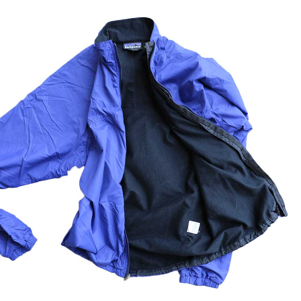 w-means(ダブルミーンズ) Patagonia nylon jacket(MADE IN FABRIQUE A U.S.A)表記M BLUE 詳細画像4