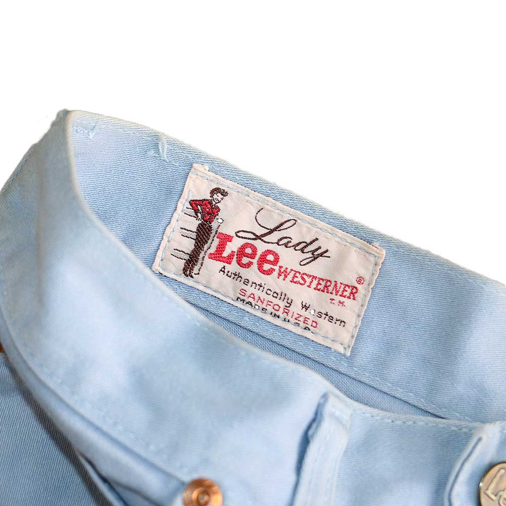 w-means(ダブルミーンズ) Lady Lee WESTERNER Cotton Pants(Made in U.S.A.)表記なし  right blue 詳細画像2
