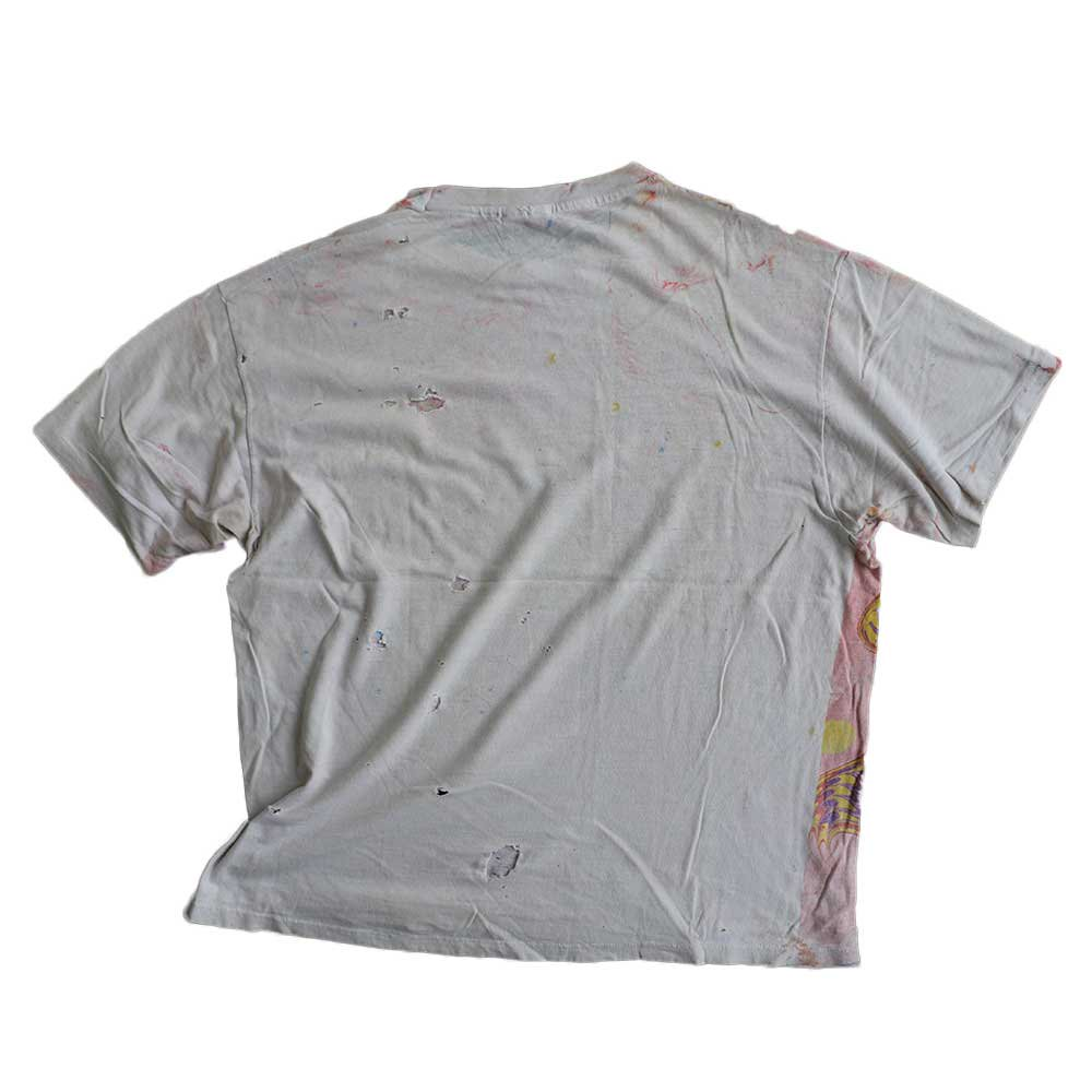 w-means(ダブルミーンズ) Hanes 100% cotton 半袖Tシャツ(Made in U.S.A.)表記xL 総柄 詳細画像2