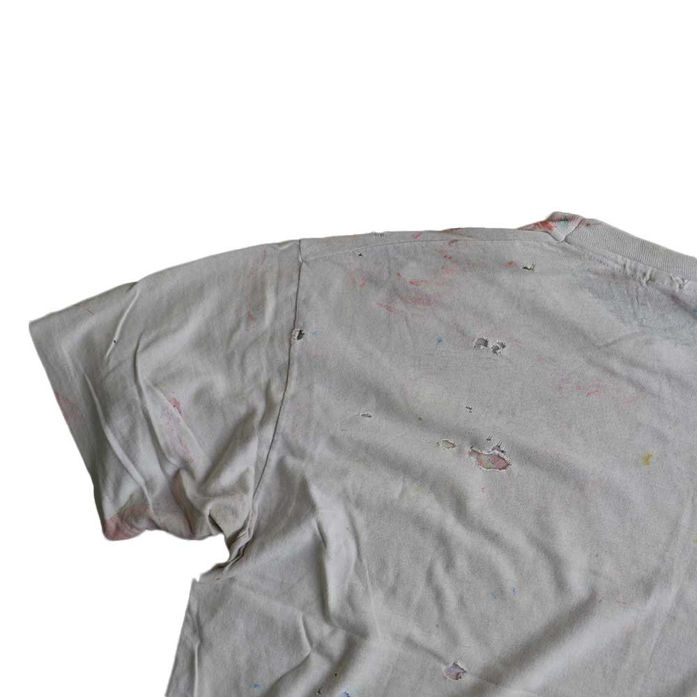 w-means(ダブルミーンズ) Hanes 100% cotton 半袖Tシャツ(Made in U.S.A.)表記xL 総柄 詳細画像3