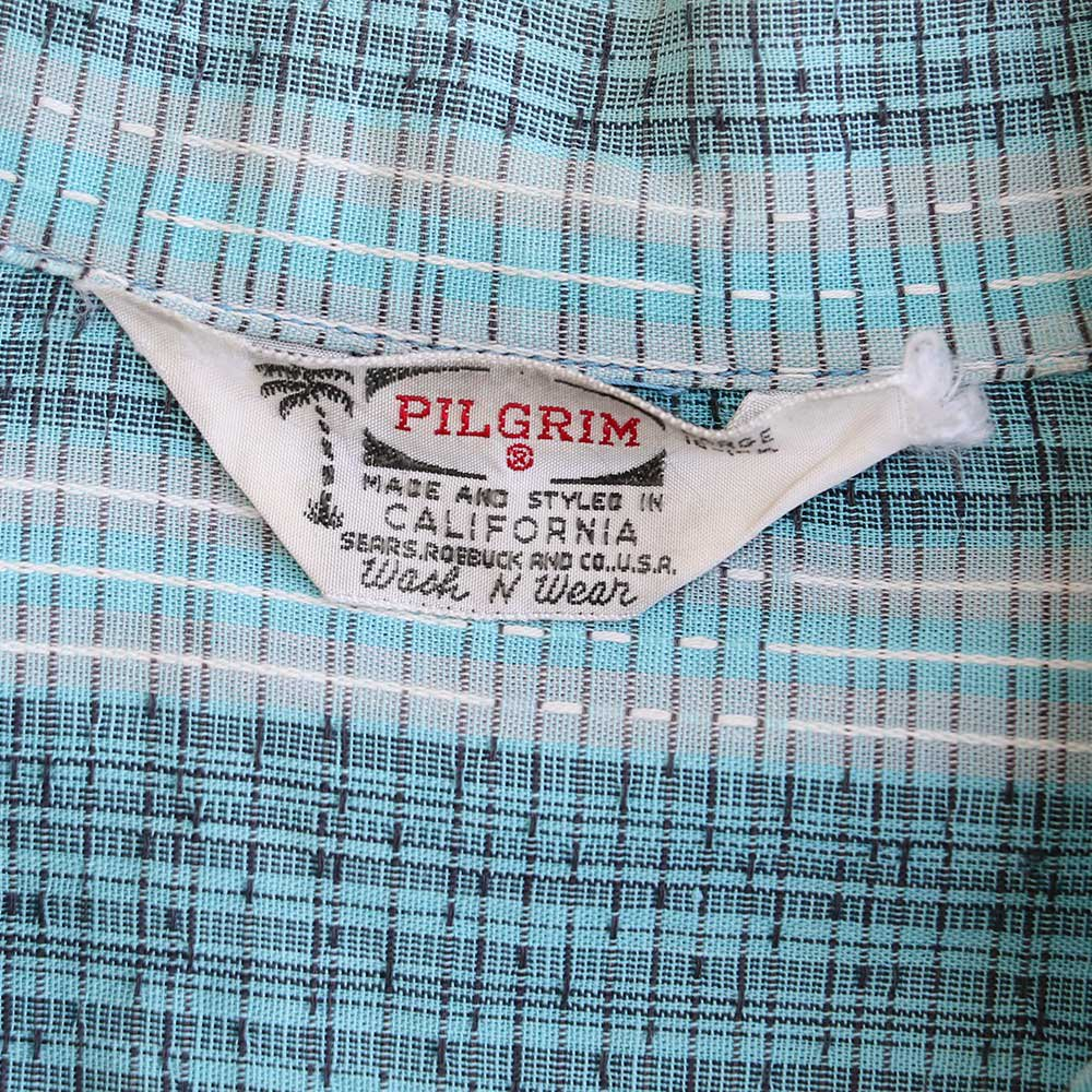w-means(ダブルミーンズ) PILGRIM cotton 半袖シャツ(Made in U.S.A.)表記L  チェック柄 詳細画像3
