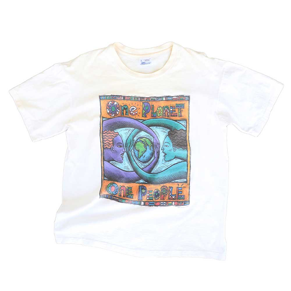 w-means(ダブルミーンズ) 1994 Human-i-Tee 100% cotton(Made in U.S.A.)表記L  生成色 詳細画像