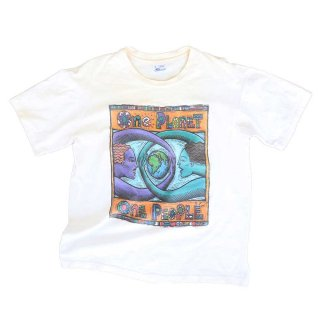 1994 Human-i-Tee 100% cotton(Made in U.S.A.)表記L  生成色