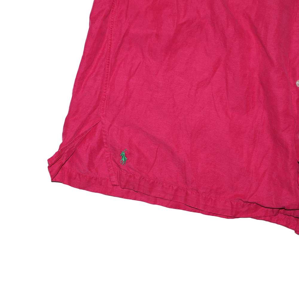 w-means(ダブルミーンズ) Polo Ralph Lauren Silk × Linen 半袖シャツ  表記xL  shocking pink 詳細画像1