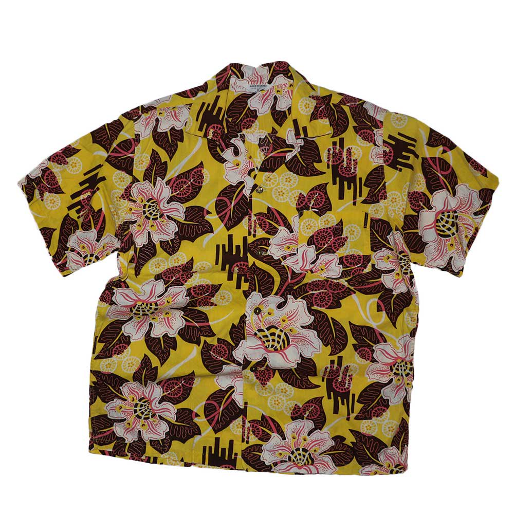 w-means(ダブルミーンズ) MADE IN HAWAII 100% Cotton 半袖シャツ  表記M  アロハ柄 詳細画像