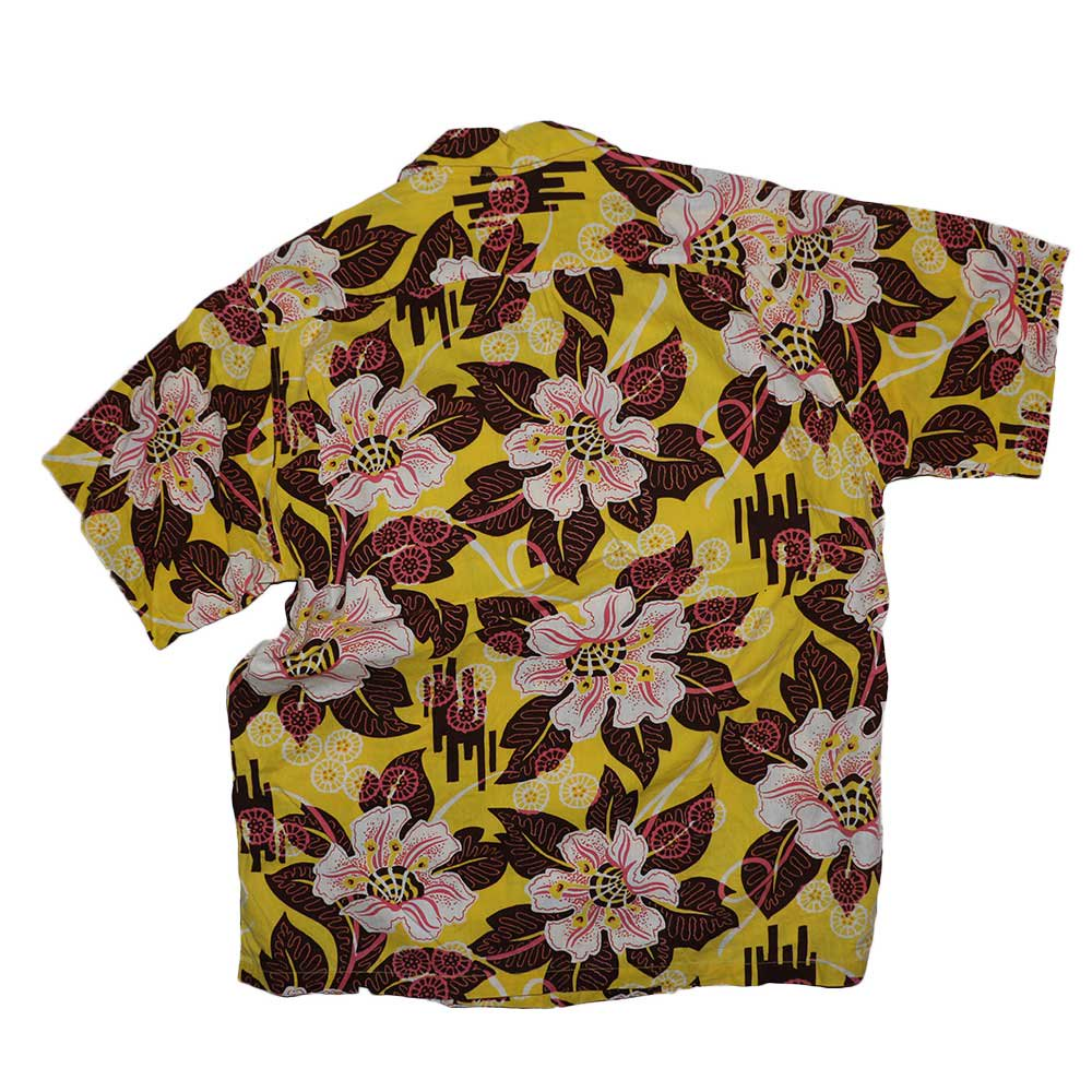 w-means(ダブルミーンズ) MADE IN HAWAII 100% Cotton 半袖シャツ  表記M  アロハ柄 詳細画像2