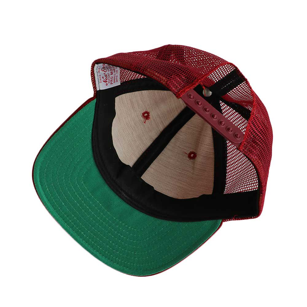 w-means(ダブルミーンズ) New Era  メッシュキャップ(Made in U.S.A.)表記 ONE SIZE FITS ALL  Burgundy 詳細画像1