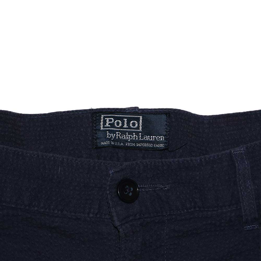 w-means(ダブルミーンズ) Polo Ralph Lauren 100% cotton ショーツ(Made in U.S.A.)表記32  濃紺 詳細画像1