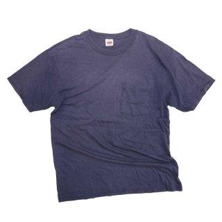 80's BVD 100% cotton 半袖Tシャツ(Made in HONDURAS)表記M  色褪紺
