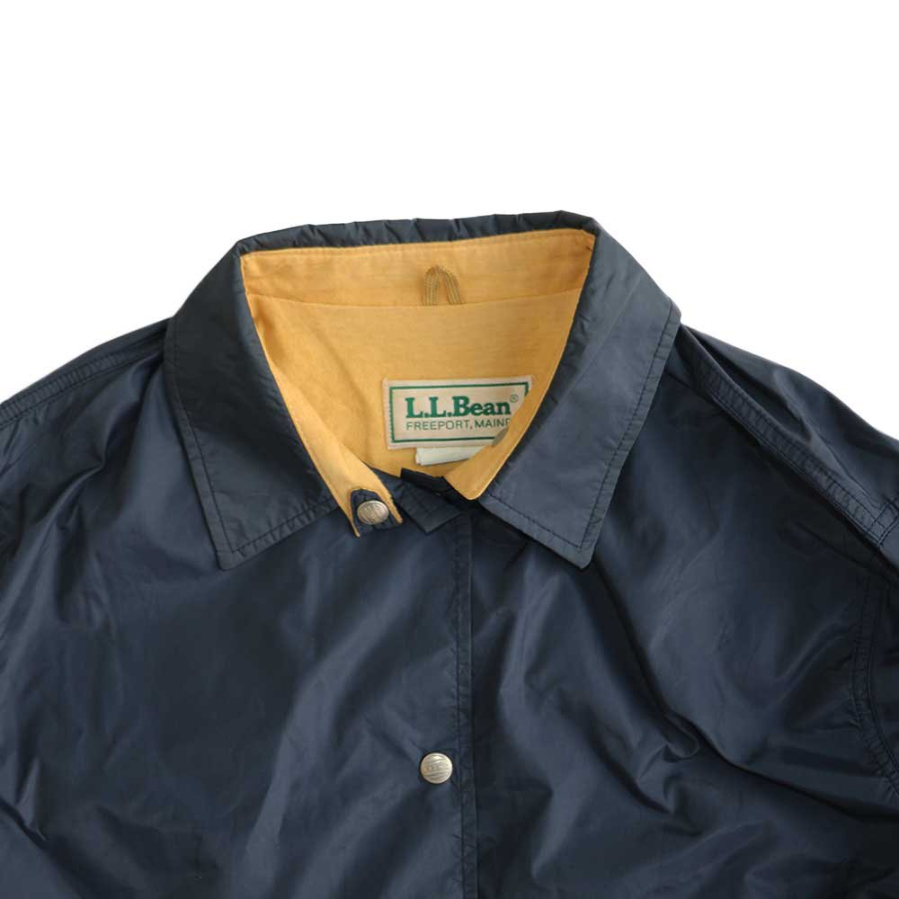 w-means(ダブルミーンズ) L.L.Bean ナイロンコーチジャケット(Made in U.S.A.)表記 WOMEN'S - xL  NAVY 詳細画像2