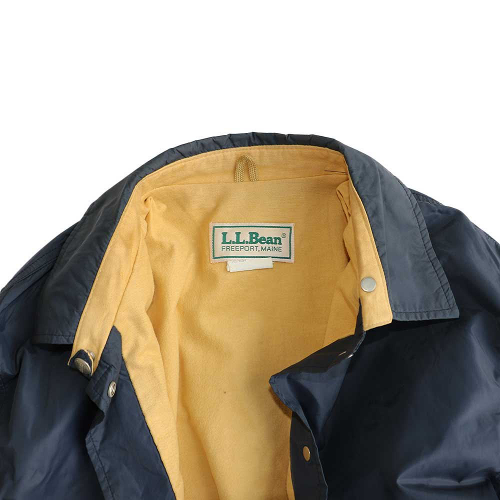 w-means(ダブルミーンズ) L.L.Bean ナイロンコーチジャケット(Made in U.S.A.)表記 WOMEN'S - xL  NAVY 詳細画像3
