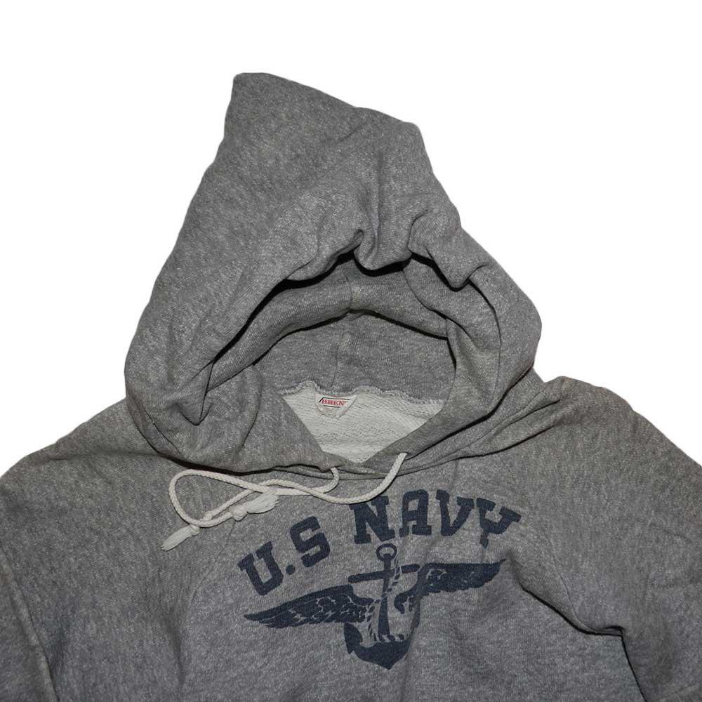 w-means(ダブルミーンズ) BRENT U.S.NAVY コットンフードスウェット 表記なし D.gray 詳細画像1