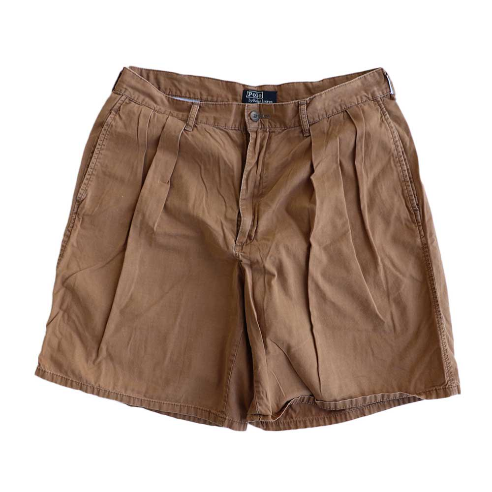 w-means(ダブルミーンズ) Polo Ralph Lauren 100% COTTON TYLER SHORT(Made in U.S.A.)表記w34 らくだ色 詳細画像