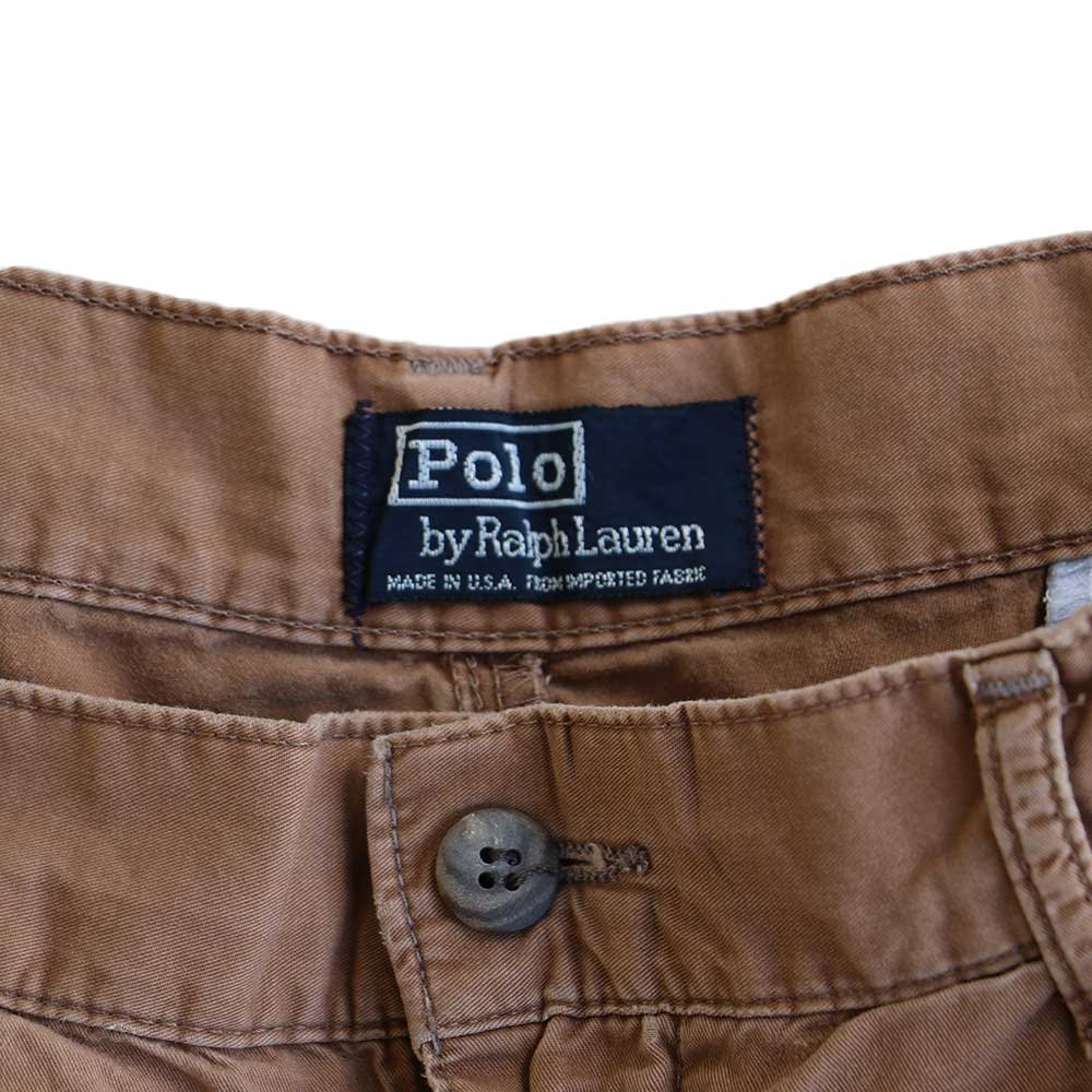 w-means(ダブルミーンズ) Polo Ralph Lauren 100% COTTON TYLER SHORT(Made in U.S.A.)表記w34 らくだ色 詳細画像1