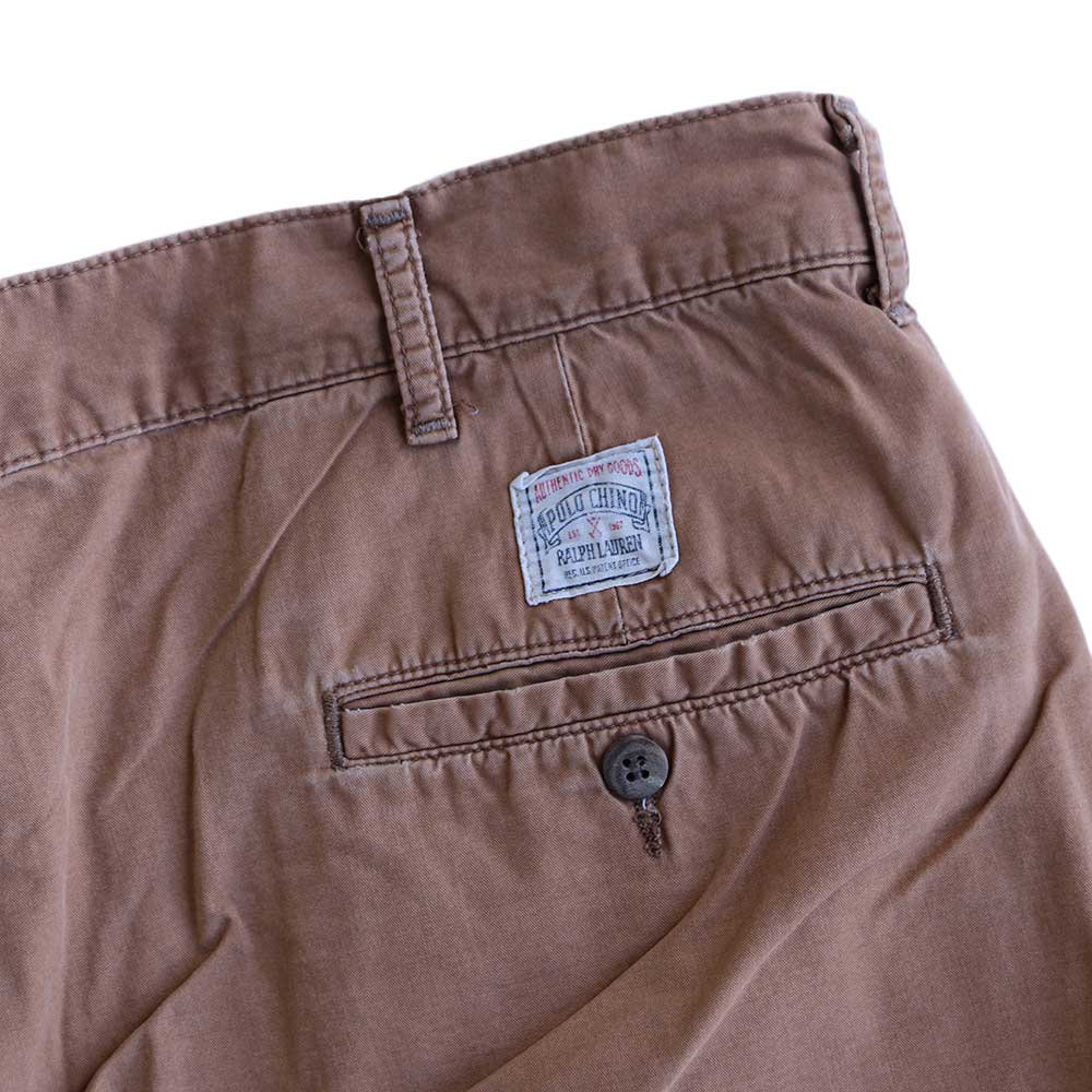 w-means(ダブルミーンズ) Polo Ralph Lauren 100% COTTON TYLER SHORT(Made in U.S.A.)表記w34 らくだ色 詳細画像3