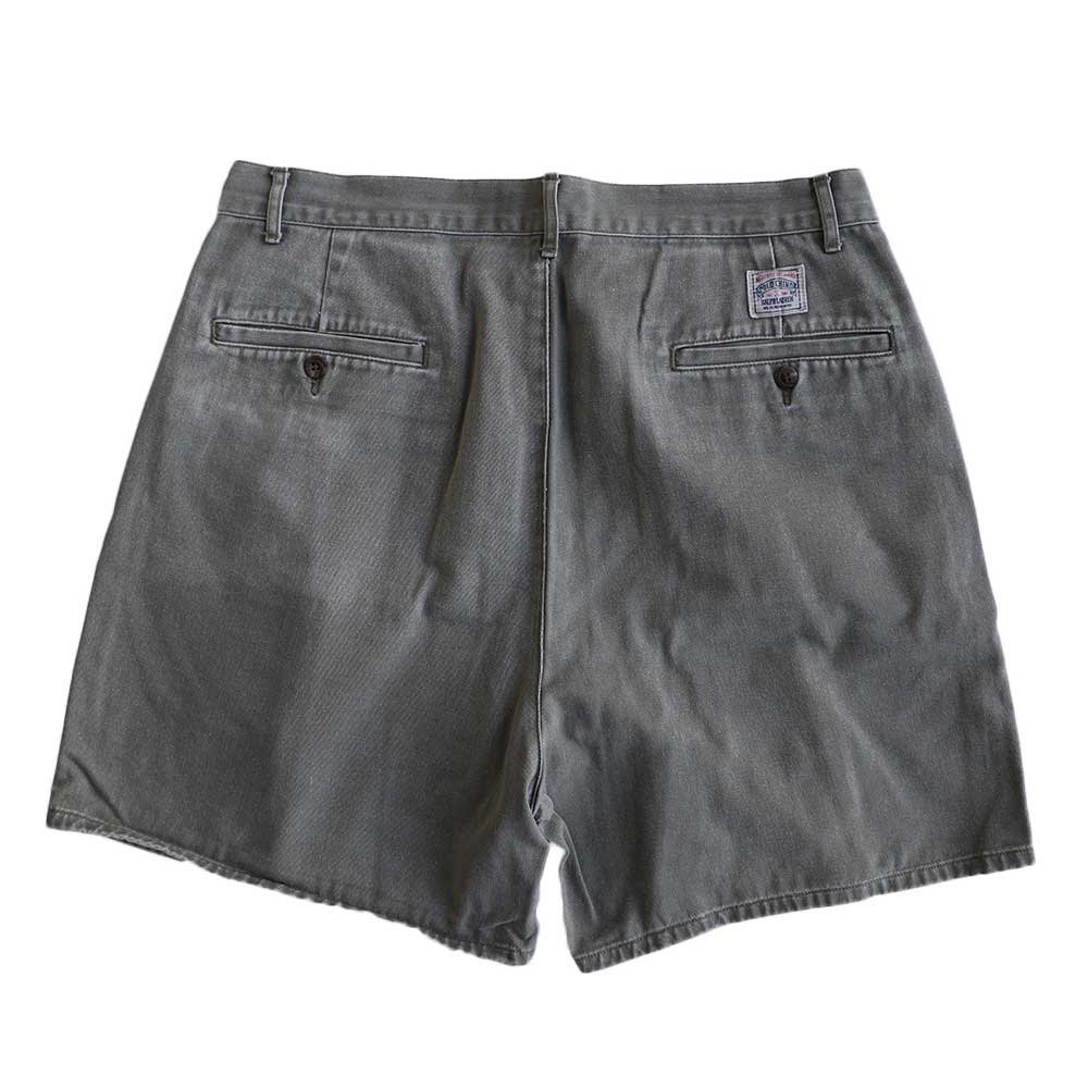 w-means(ダブルミーンズ) Ralph Lauren 100% コットンショーツ(Made in MALAYSIA)表記w33  鶯色 詳細画像2