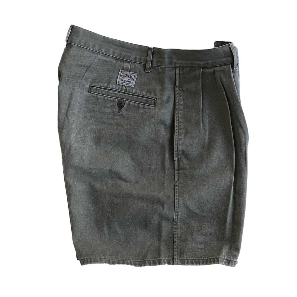 w-means(ダブルミーンズ) Ralph Lauren 100% コットンショーツ(Made in MALAYSIA)表記w33  鶯色 詳細画像4