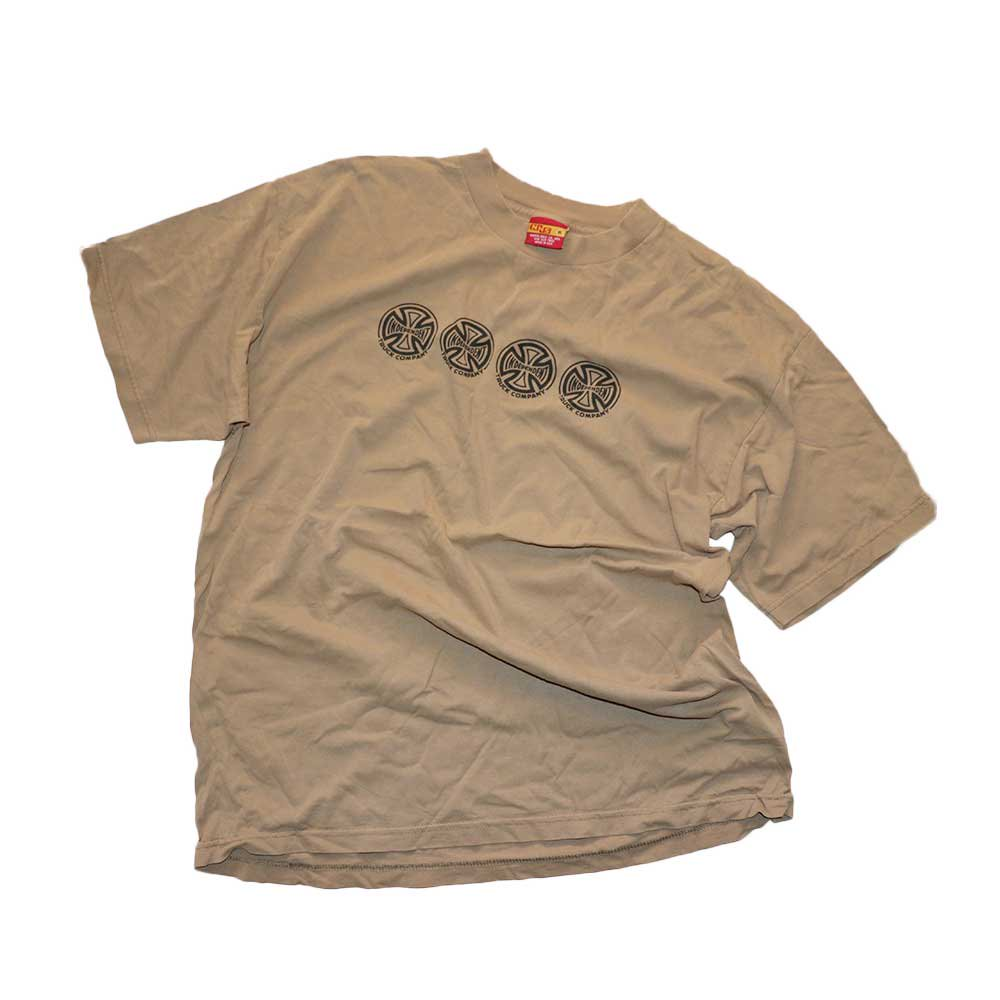w-means(ダブルミーンズ) INDEPENDENT TRUCK COMPANY コットン半袖Tシャツ(Made in U.S.A.)表記xL  SAND 詳細画像