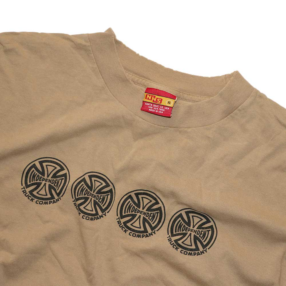 w-means(ダブルミーンズ) INDEPENDENT TRUCK COMPANY コットン半袖Tシャツ(Made in U.S.A.)表記xL  SAND 詳細画像1