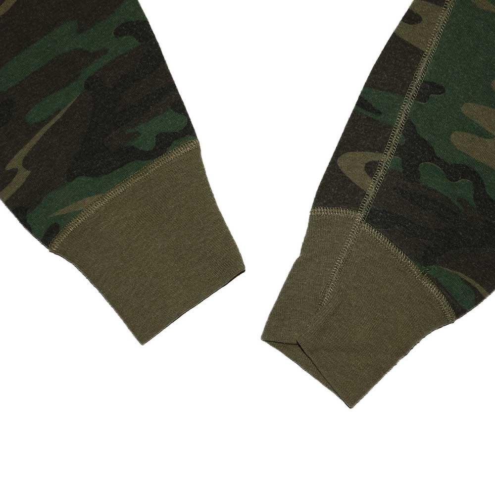 w-means(ダブルミーンズ) duofold ヘンリーネックサーマル(Made in U.S.A.)表記xL  woodland camo 詳細画像2