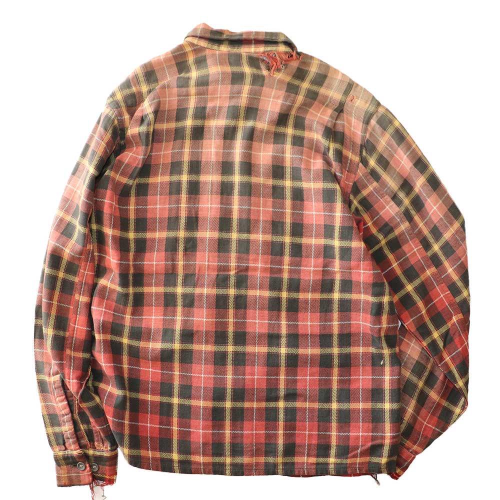 w-means(ダブルミーンズ) Pilgrim コットンオープンカラーシャツ 表記M  チェック柄 詳細画像5