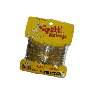 S'getti  strings  CRAFT LACING with a STRETCH (Made in U.S.A.)6 YARDS  ラメ