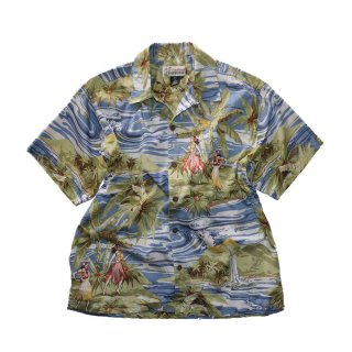 Pataloha 100% cotton アロハシャツ(Made in PORTUGAL)表記M  アロハ柄