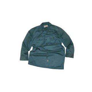 Dickies 長袖ワークシャツ 表記M  千歳緑色