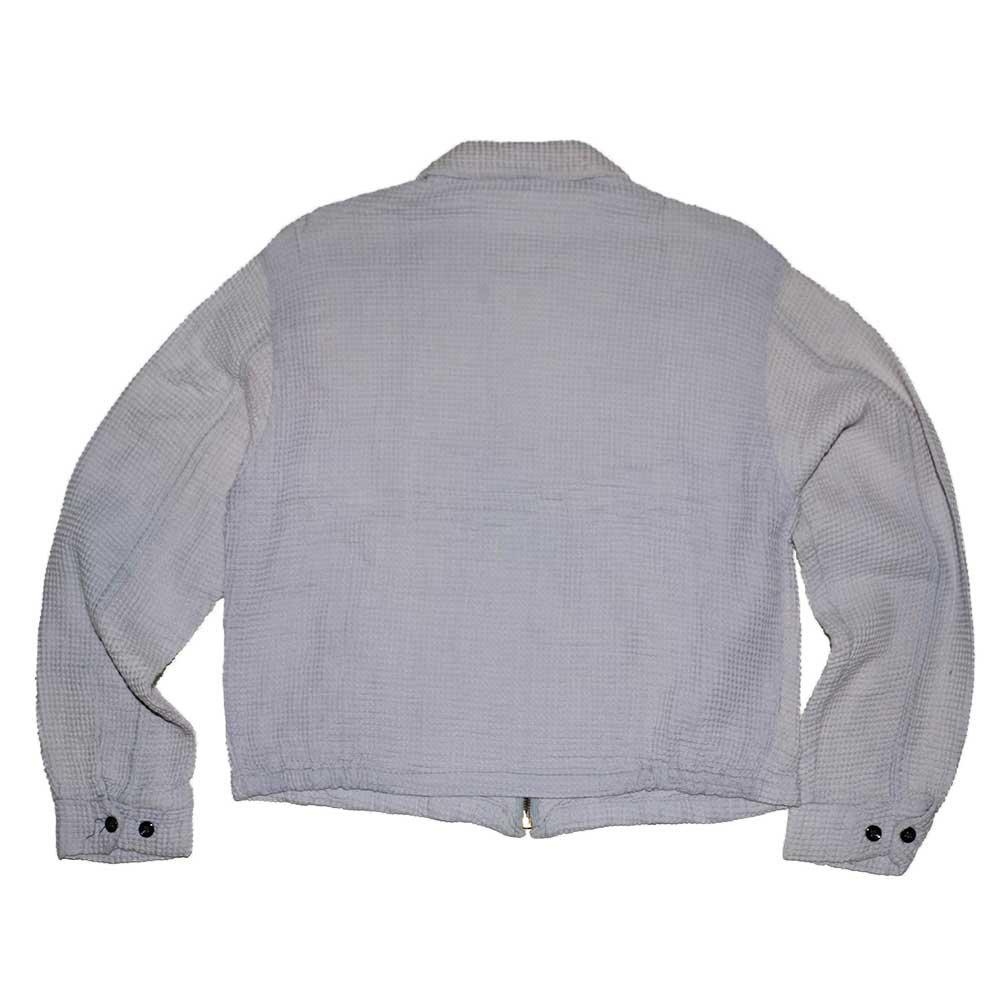 w-means(ダブルミーンズ) Paca sportswear コットンワッフルジャケット  表記L  白花色 詳細画像5