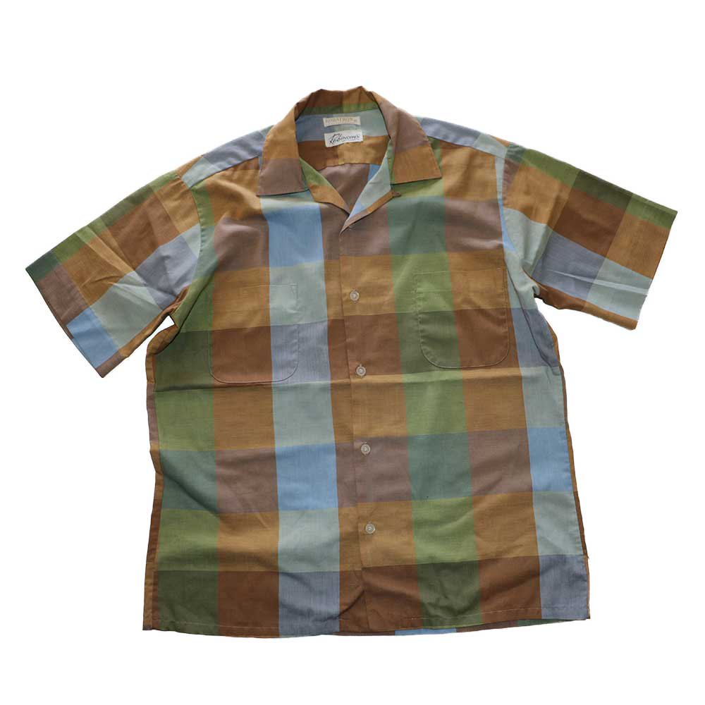 w-means(ダブルミーンズ) Robinsons vintage opencolor shirt  表記M  マドラスチェック 詳細画像