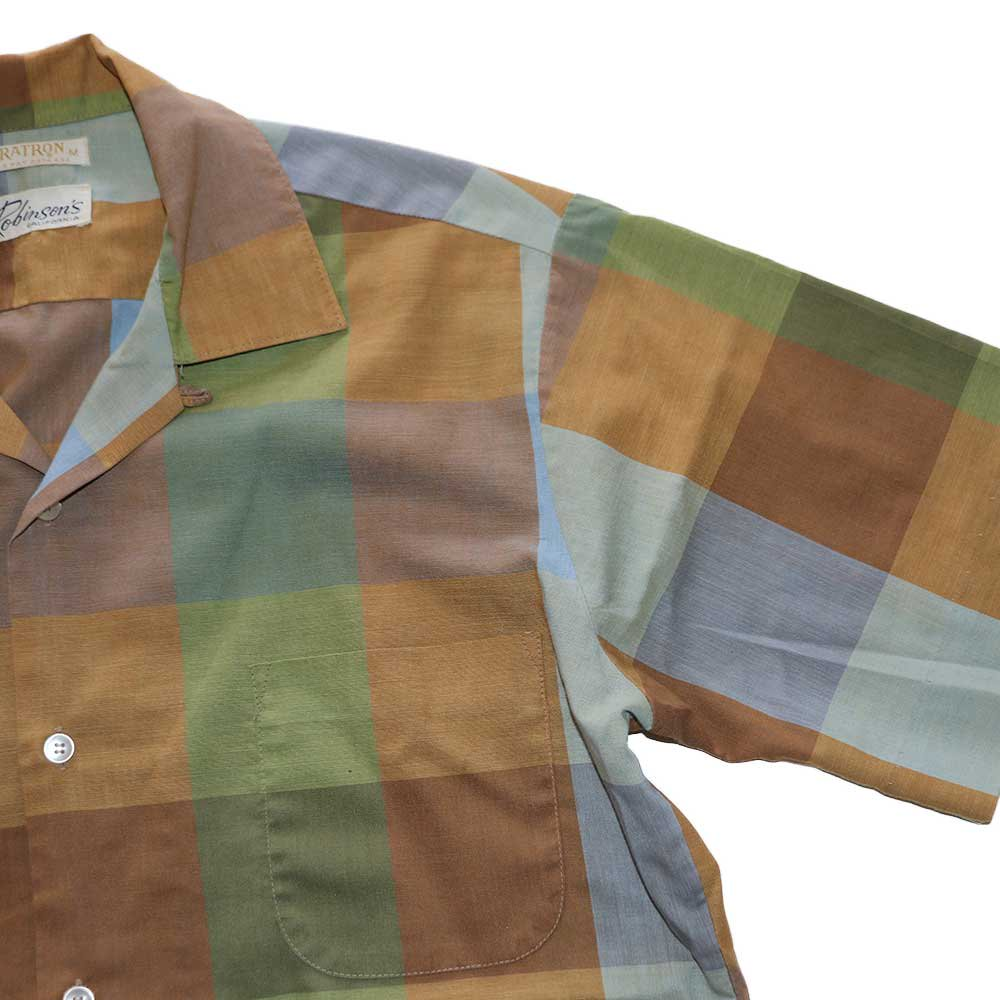 w-means(ダブルミーンズ) Robinsons vintage opencolor shirt  表記M  マドラスチェック 詳細画像2