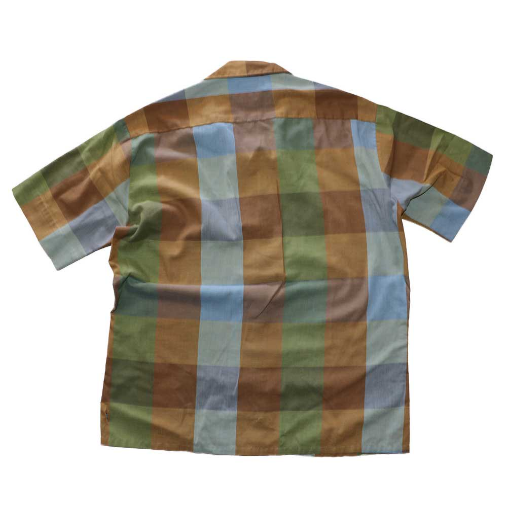 w-means(ダブルミーンズ) Robinsons vintage opencolor shirt  表記M  マドラスチェック 詳細画像3