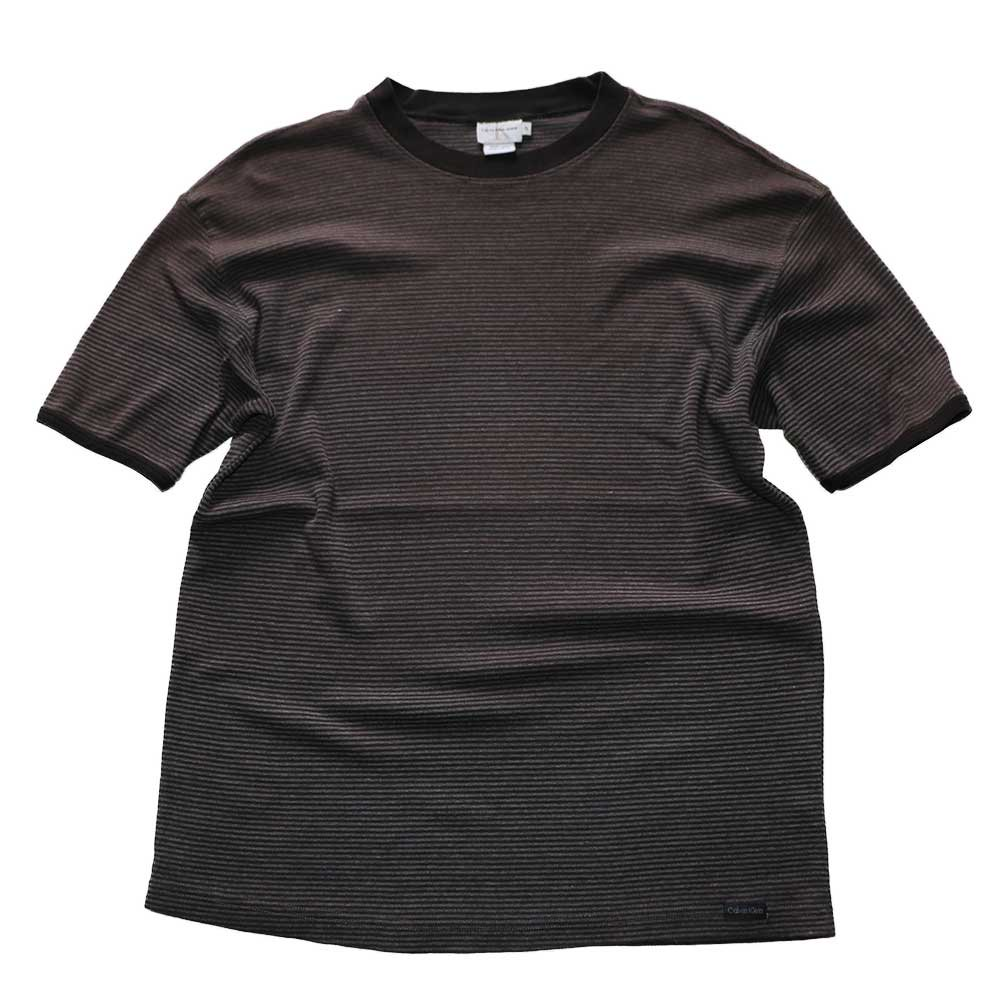 w-means(ダブルミーンズ) CK 100% cotton 半袖シャツ(Made in ISRAEL)表記S  ボーダー柄 詳細画像