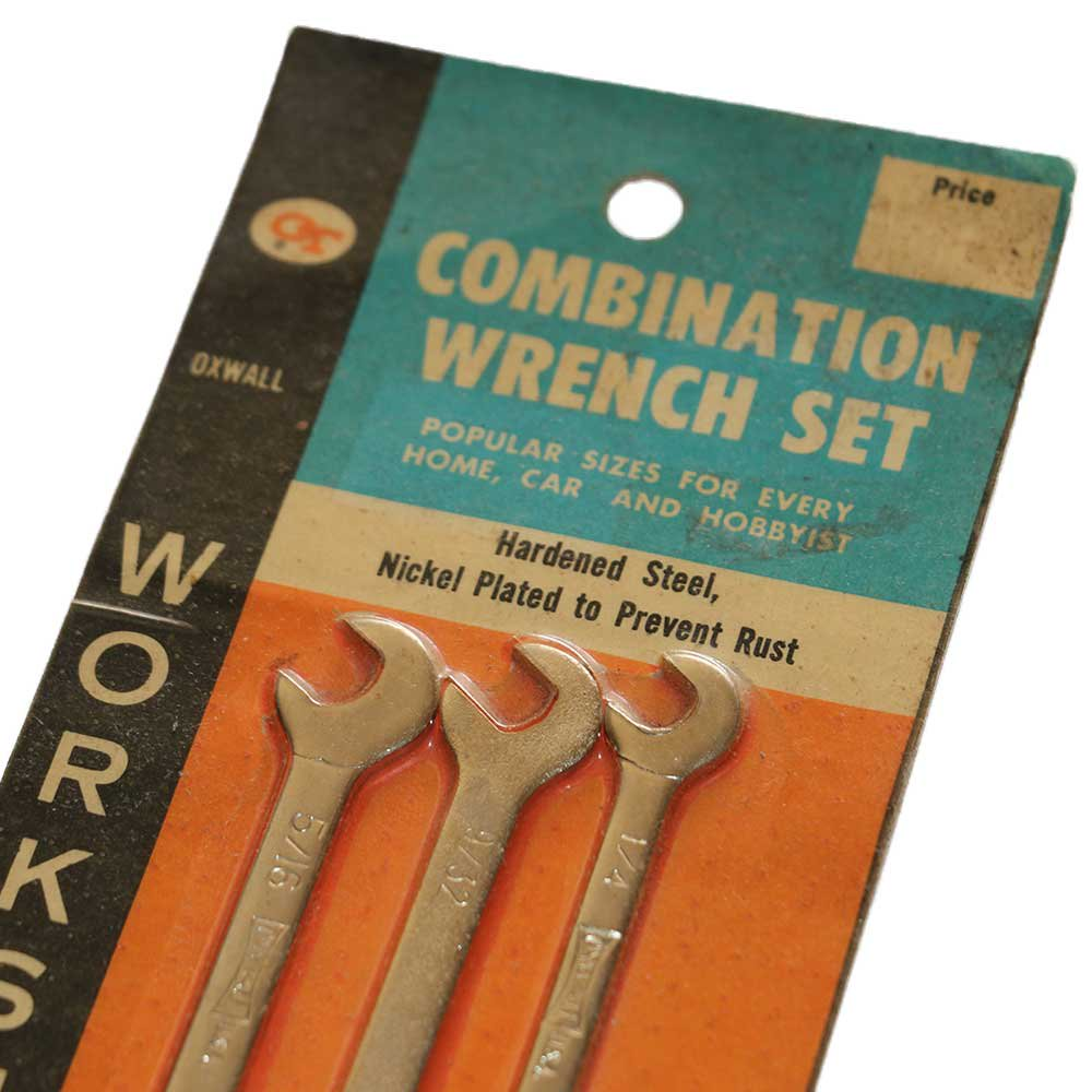 w-means(ダブルミーンズ) OT COMBINATION WRENCH SET(Made in U.S.A.)25cm×8.9cm  Silver 詳細画像1